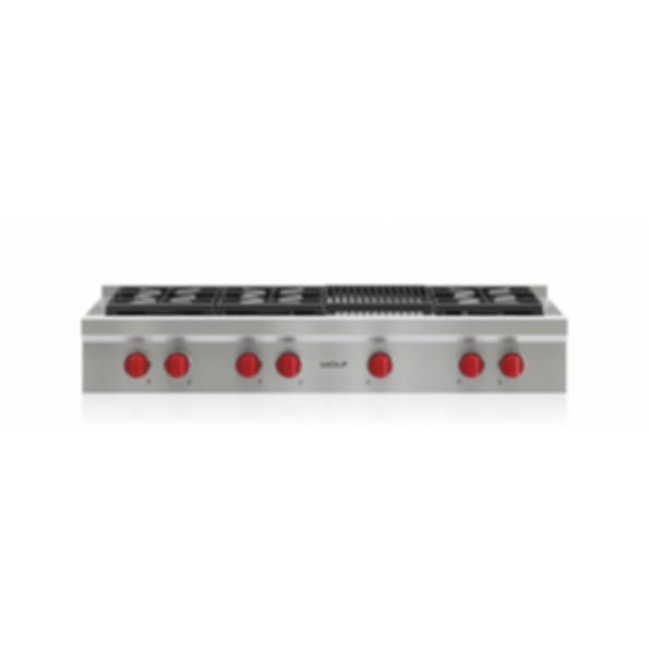 """48"""" Sealed Burner Rangetop - 6 Burners and Infrared Charbroiler SRT486C"""