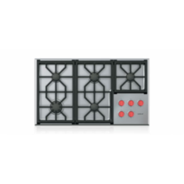 """36"""" Professional Gas Cooktop - 5 Burners CG365P/S"""