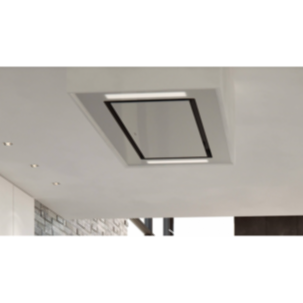 "36"" Ceiling-Mounted Hood - White Glass VC36W"