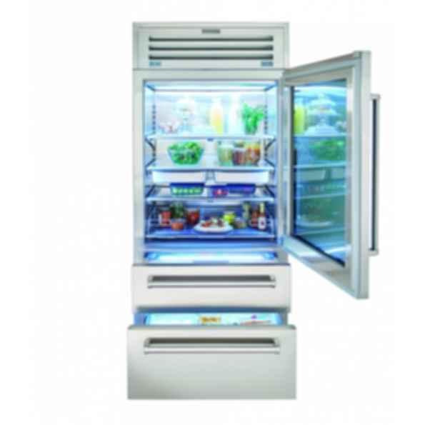 "36"" PRO Refrigerator/Freezer with Glass Door PRO3650G"