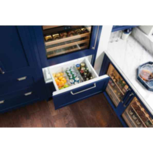 "30"" Designer Wine Storage with Refrigerator/Freezer Drawers - Panel Ready IW-30CI"