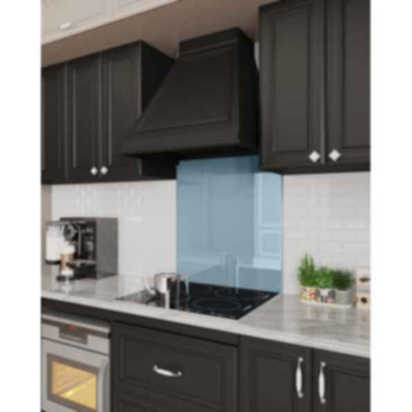 Stove Glass Backsplash - Solid Colors