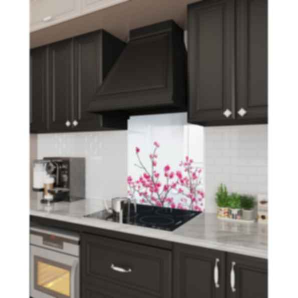 Stove Glass Backsplash - Floral Images