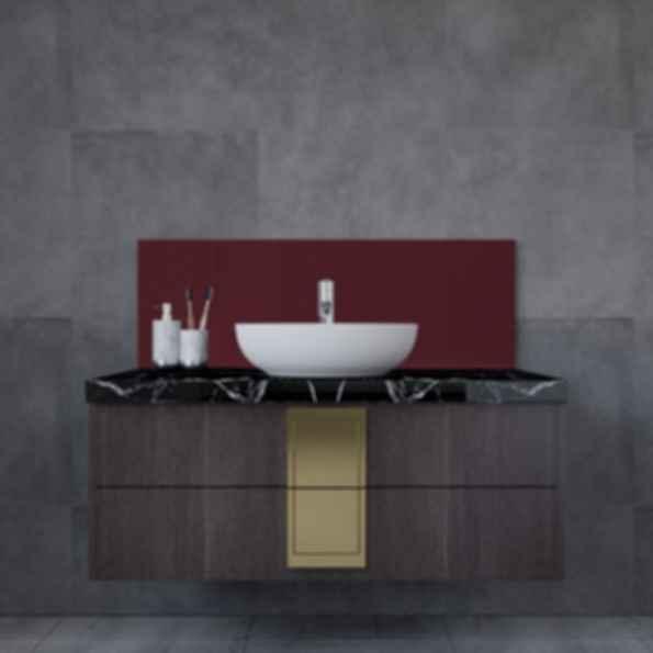 Sink Glass Backsplash - Solid Colors