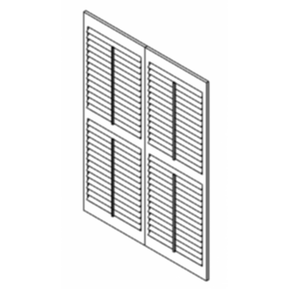 Luxaflex Countrywoods Shutters Hinged-2 Panels For Revit