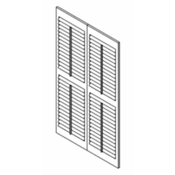 Luxaflex Countrywoods Shutters Hinged BiFold-2 Panels For Revit