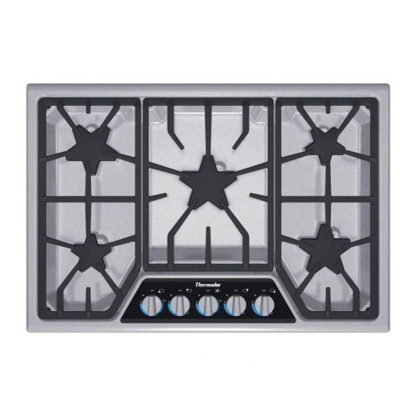 masterpiece 30 inch stainless steel gas cooktop 5 burner sgsx305fs