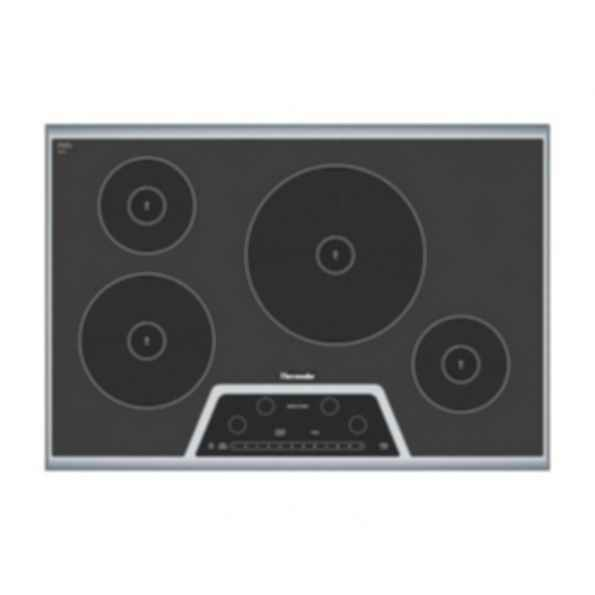 "Masterpiece™ 30"" Induction Cooktop Black with Stainless Steel Frame CIT304GB"