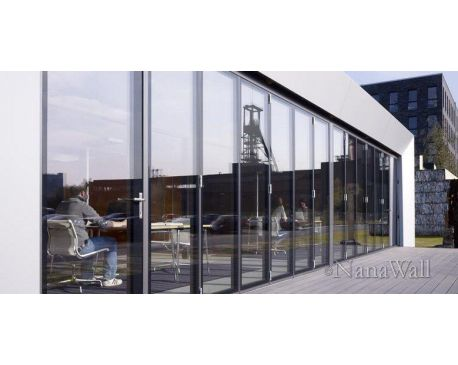 Nanawall doors nanawall for Collapsible glass wall