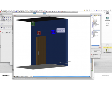 Everglow Exit Signs For ArchiCAD
