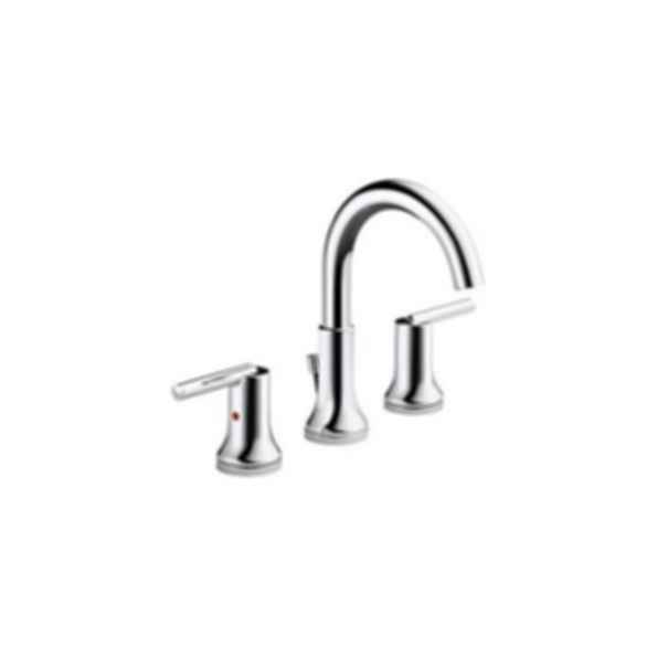 TRINSIC Widespread Bath Faucet w/ metal pop-up 3559