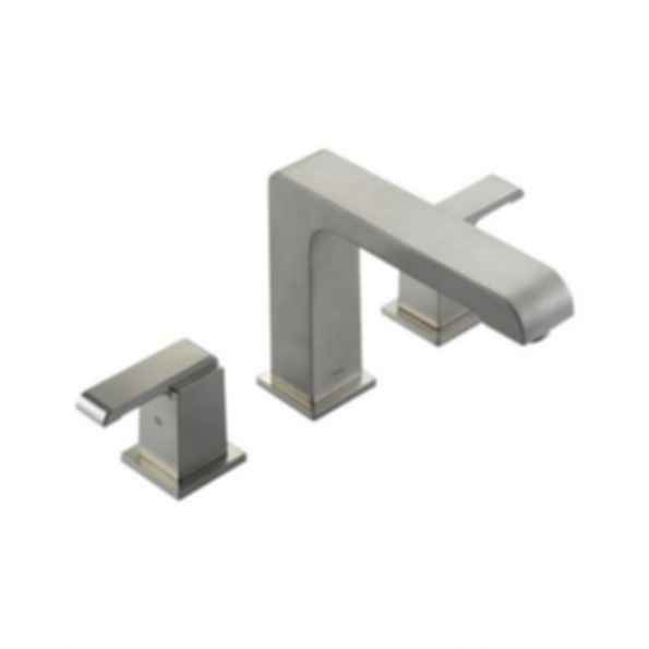 Roman Tub/Whirlpool Faucet Trim, Brass Body, Stainless Steel Finish, Two Handle, Lever Type