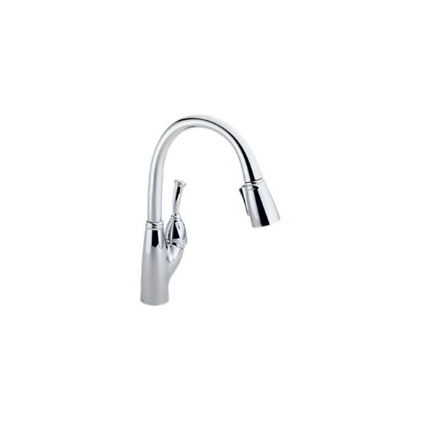 Allora Pull Down Kitchen Faucet Brass Body Chrome Finish Single