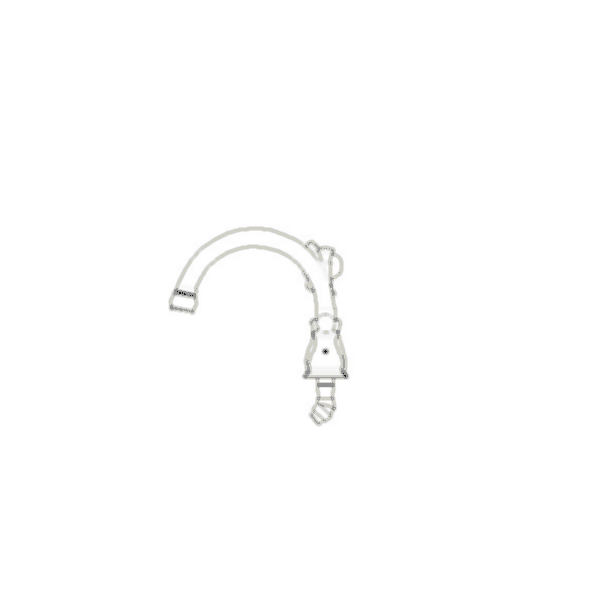 Roman Tub Faucet Trim, Orleans™ Bath Series, Brass Body, Stainless Steel Finish, Two Handle