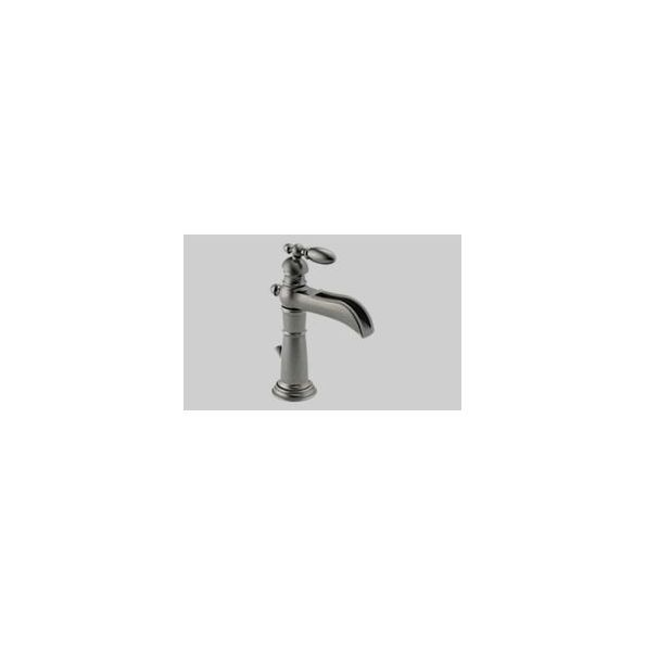 Lavatory Faucet,Victorian® BathCollection, Brass Body, Aged Pewter Finish