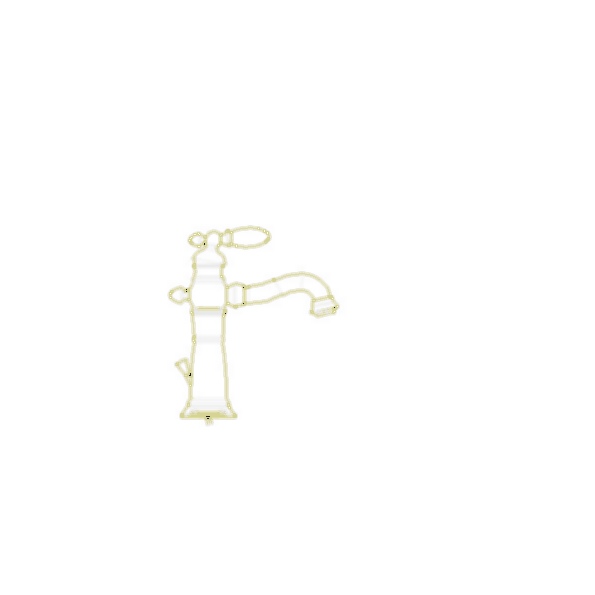Lavatory Faucet,Victorian® Bath Collection, Brass Body, Brilliance® Stainless Finish