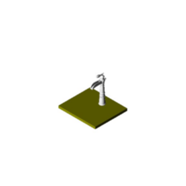 Lavatory Faucet, Victorian® BathCollection, Brass Body, Aged Pewter Finish