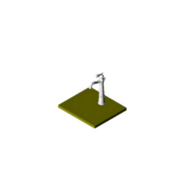 Lavatory Faucet, Victorian® Bath Collection, Brass Body, Chrome Finish