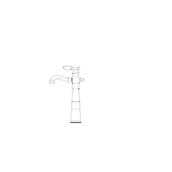 Lavatory Faucet, Victorian® Bath Collection, Brass Body, Brilliance® Stainless Finish