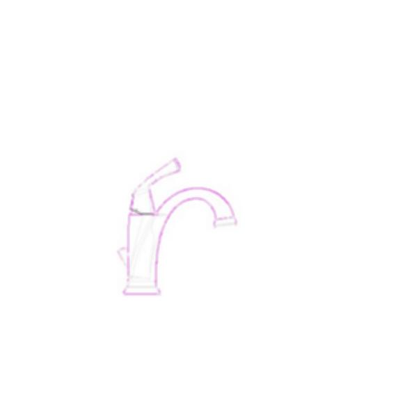 Lavatory Faucet, Dryden™ Bath Collection, Centerset, Brass Body, Chrome Finish, Single Handle