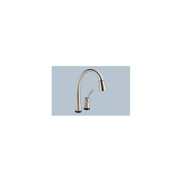 Delta Pilar Pull Down Kitchen Faucet With Touch2o And Soap