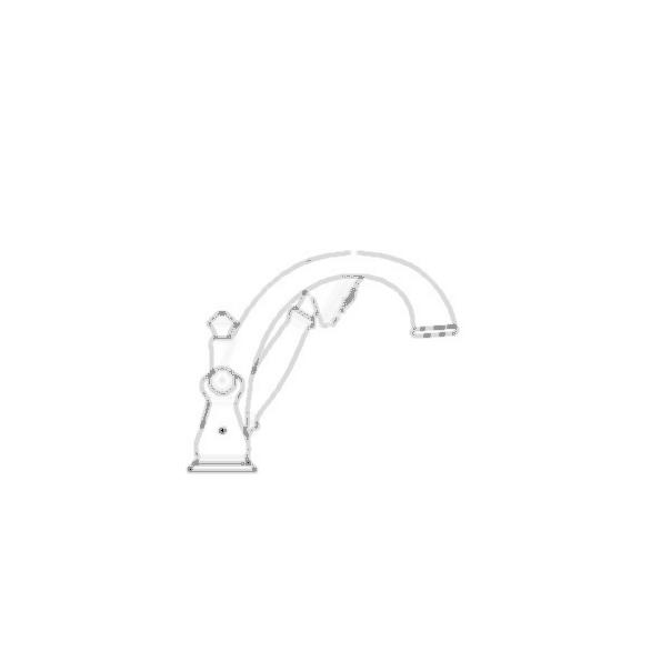 J-Spout Roman Faucet Trim w/Hand Shower, Chrome Finish
