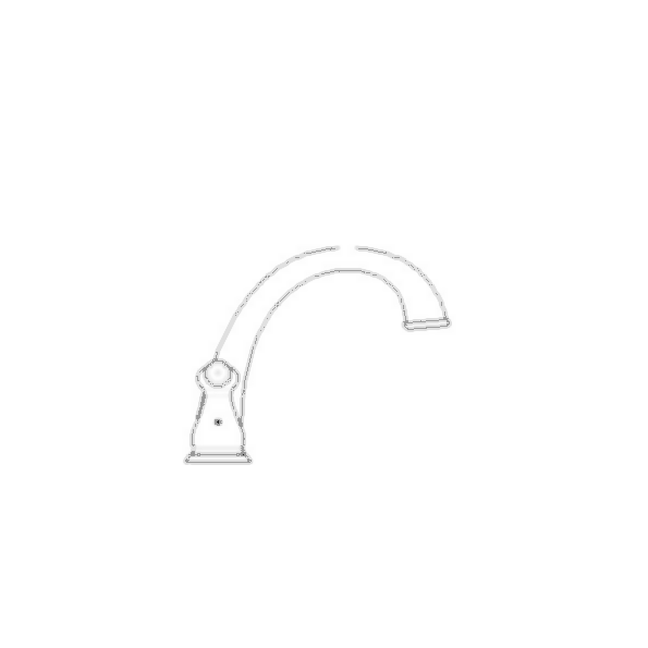 J-Spout Roman Tub Faucet Trim, Chrome Finish