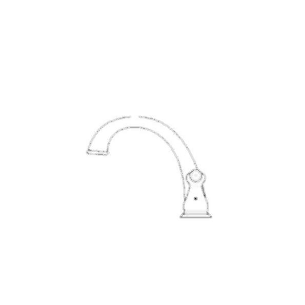 J-Spout Roman Tub Faucet Trim-Brilliance Stainless