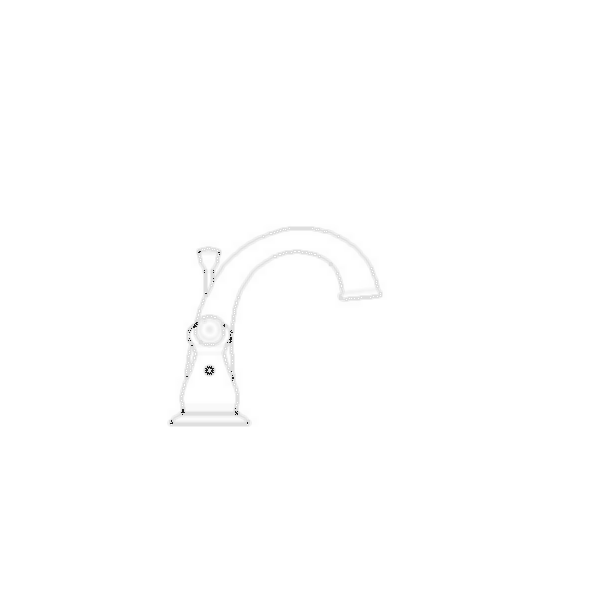 J-Spout Widespread Bath Faucet, Brilliance® Stainless Steel Finish