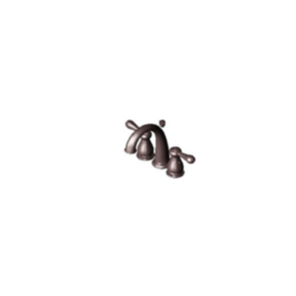 J-Spout Mini-Widespread Bath Faucet, Venetian Bronze Finish