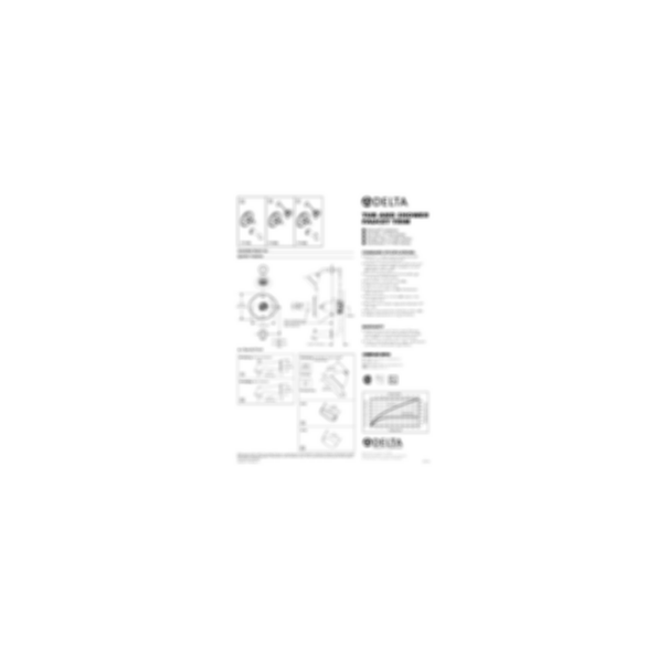 Scald-Guard Tub & Shower Trim w/Vol. Control, Chrome Finish