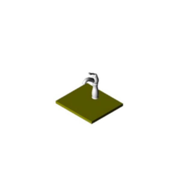 Single Hole Mount Bath Faucet with Riser, Venetian® Bronze Finish