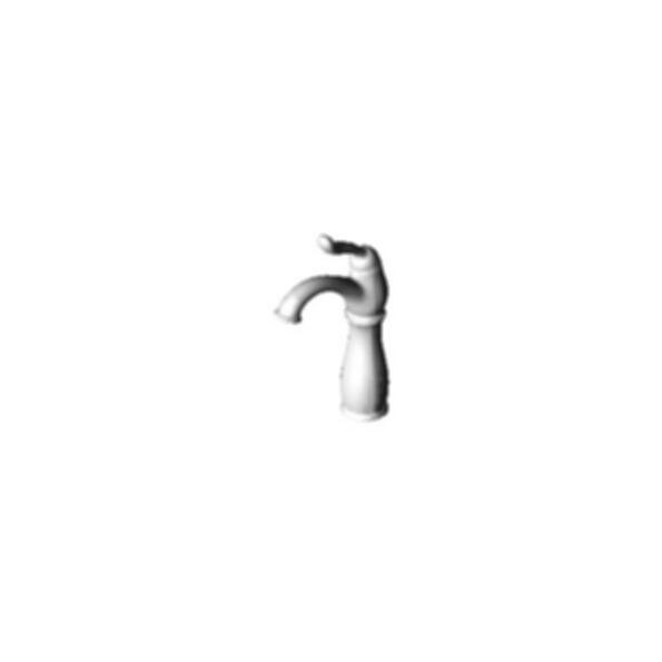 Single Hole Mount Bath Faucet with Riser, Chrome Finish