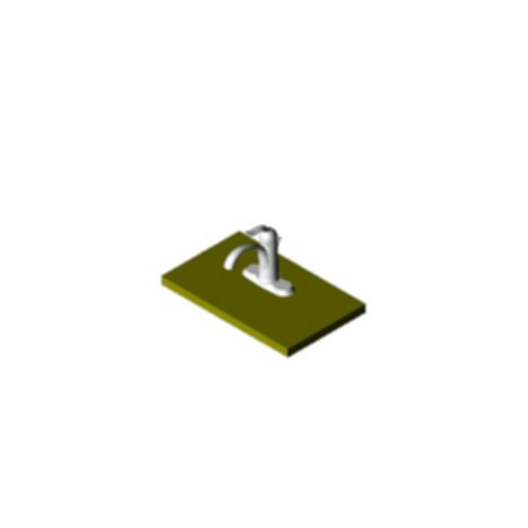 Single Handle Centerset Bath Faucet, Brilliance® Stainless Steel Finish