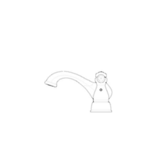 Centerset Bath Faucet, Brilliance® Stainless Steel Finish
