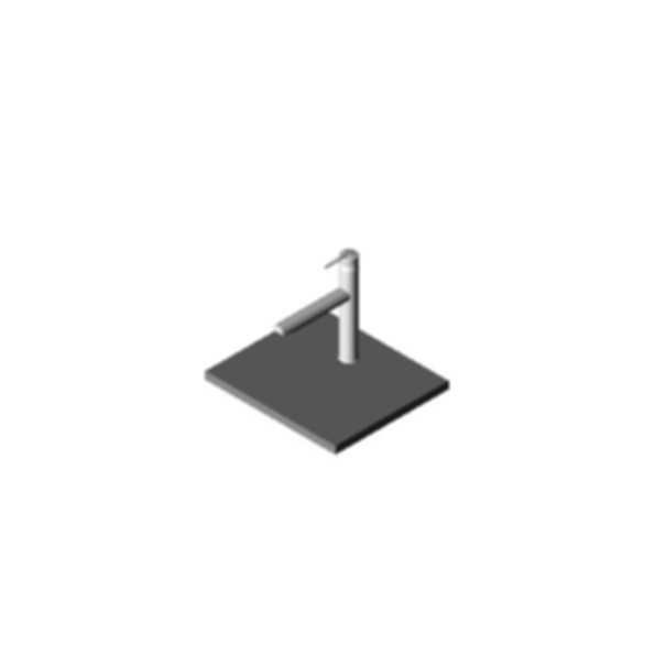 Kitchen Faucet, Grail™ Series, Chrome Finish, Single Handle