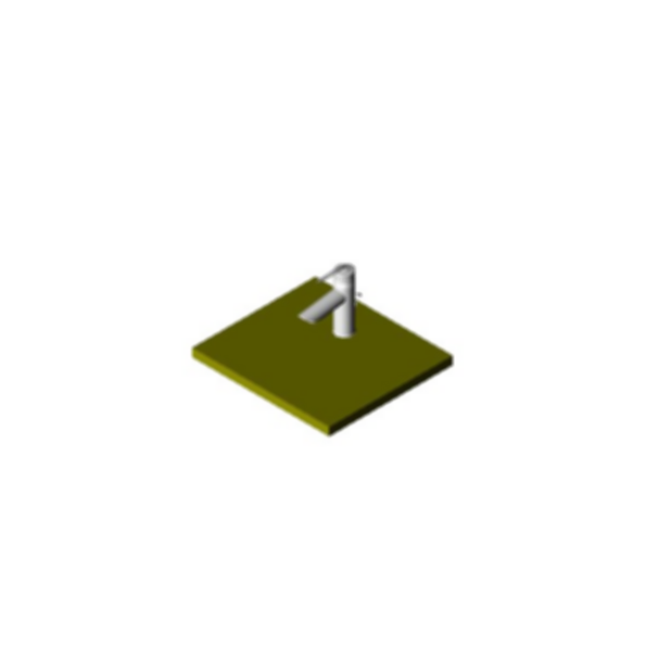 Lavatory Faucet, Rhythm™ Series, Centerset, Polished Chrome Plated Finish, Single Handle