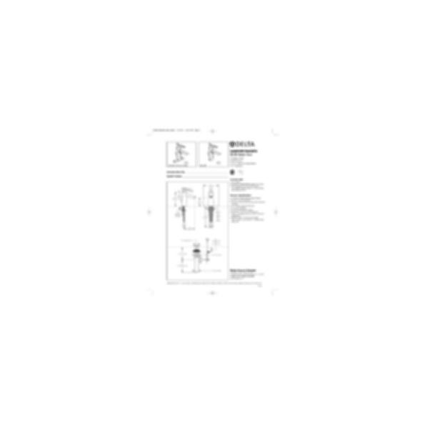 Lavatory Faucet, Rhythm™ Series, Centerset, Stainless Steel Finish, Single Handle