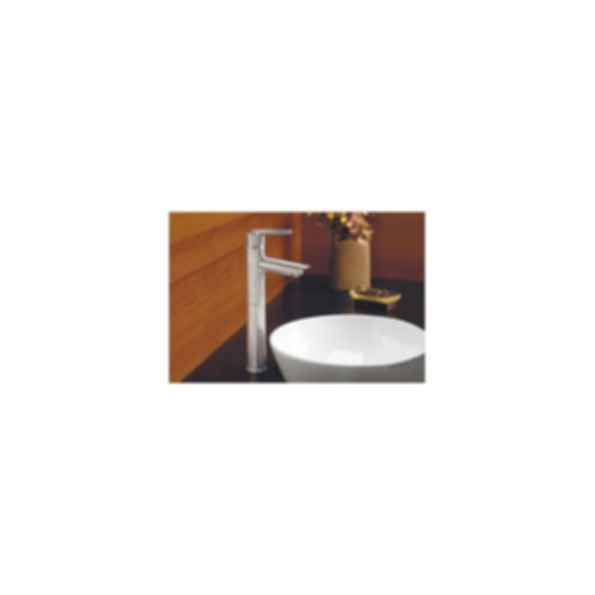 Lavatory Faucet, Grail™ Series, Centerset, Stainless Steel Finish, Single Handle