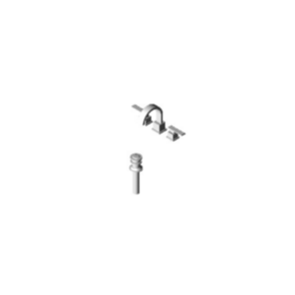 Vero™Two-Handle Widespread Lavatory Faucet, Three-Hole Installation, Brilliance® Stainless