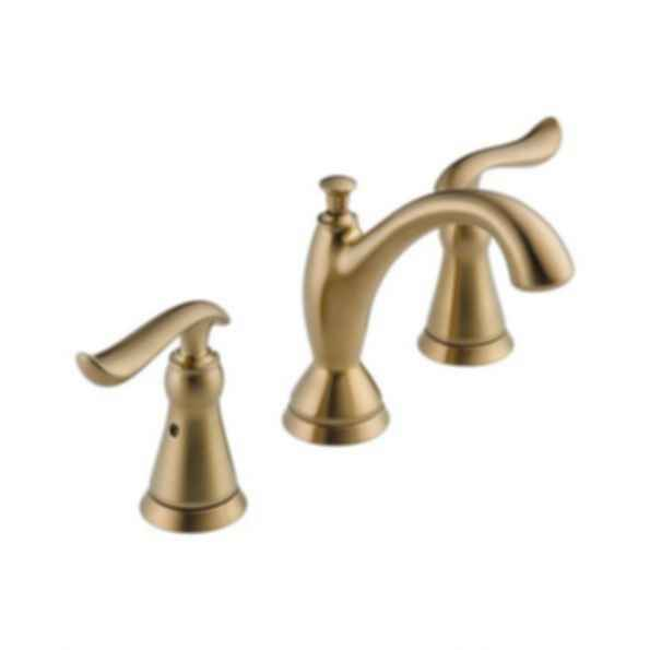 Linden™ Two Handle Widespread Deck Faucet Three Hole Installation Champagne Bronze