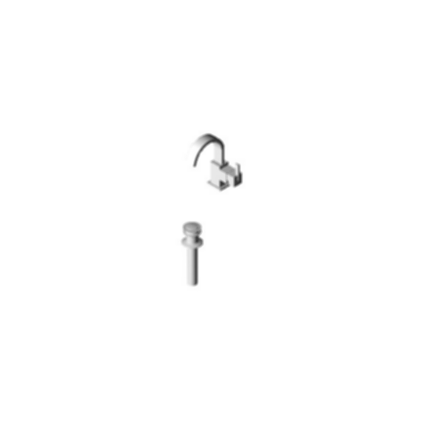 Vero™Single-Handle Centerset Lavatory Faucet, 1Hole Installation, Brilliance® Stainless
