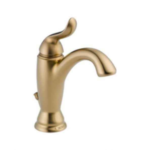 Linden™ Single Handle Lavatory Deck Faucet 1or 3 Hole Installation Champagne Bronze