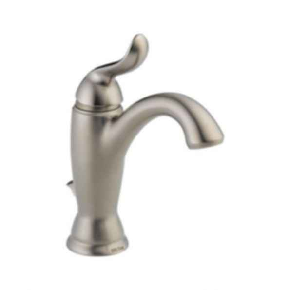 Linden™ Single Handle Lavatory Deck Faucet 1or 3 Hole Installation Brilliance Stainless