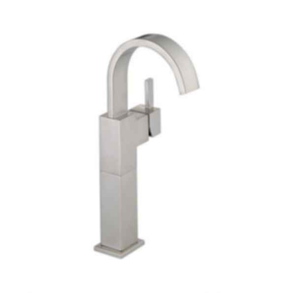 Vero™ Single-Handle Lavatory Faucet with Riser, 1Hole Installation, Brilliance® Stainless