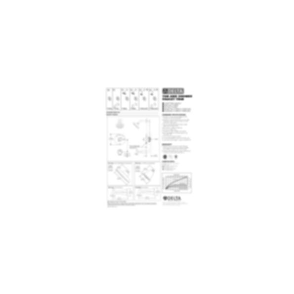 Linden™ Collection Shower Trim Monitor 14 Mixing Valve Raincan Showerhead Polished Chrome