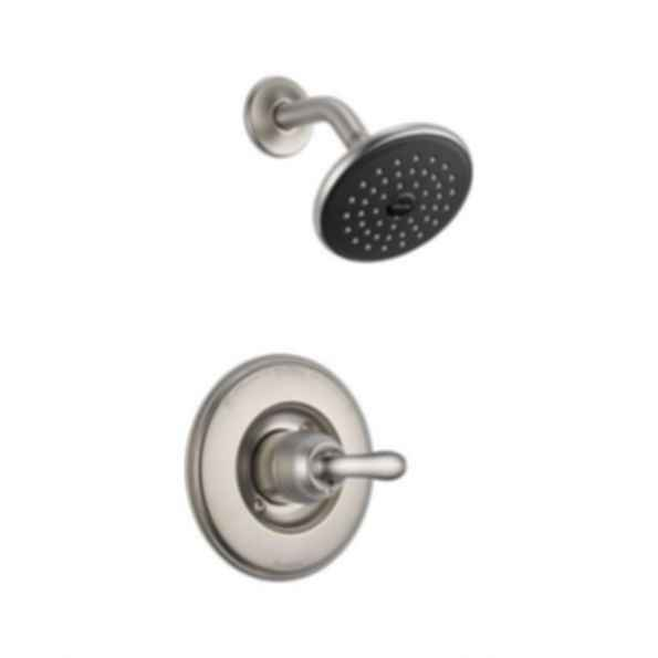 Linden™ Collection Shower Trim Monitor 14 Mixing Valve Raincan Showerhead Brilliance Stainless