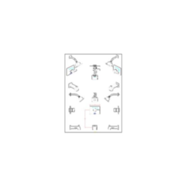 Vero™ Collection Tub/Shower Trim with H2O Showerhead,Polished Chrome