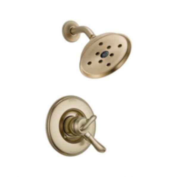 Linden™ Collection Shower Trim Monitor 17 Mixing Valve H2O Showerhead Champagne Bronze