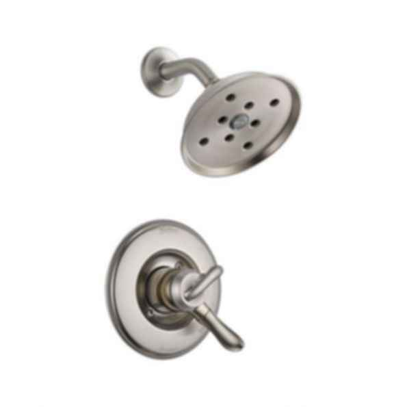 Linden™ Collection Shower Trim Monitor 17 Mixing Valve H2O Showerhead Brilliance Stainless